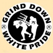 GRIND DOWN WHITE PRIDE - Chair - Button/Badge/Pin (56)