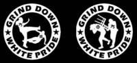 GRIND DOWN WHITE PRIDE - Printed Patch