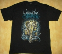 MILKING THE GOATMACHINE - yellow Goat - T-Shirt size L