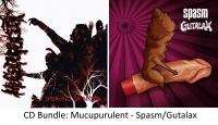 """BUNDLE: MUCUPURULENT """"Drenched In Blood"""" + SPASM / GUTALAX - split CD -"""