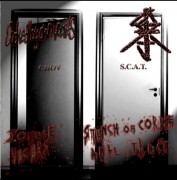 CHOKED BY OWN VOMITS / S.C.A.T -Split CD-