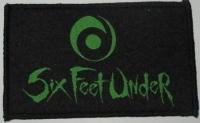 SIX FEET UNDER - green Logo - Woven Patch