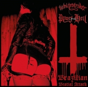 WHIPSTRIKER / POWER FROM HELL - 12'' split LP - Brazilian Bestial Attack