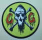 CUNTGRINDER - CG-Logo yellow - woven Patch