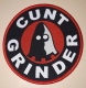 CUNTGRINDER - red Frame - woven Patch