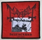 MAYHEM - Deathcrush - woven Patch