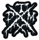 TXDM (TEXAS DEATH METAL) embroidered cutted WHITE logo Patch