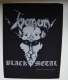 VENOM - Black Metal - silver printed Backpatch