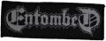ENTOMBED - white Logo - woven patch